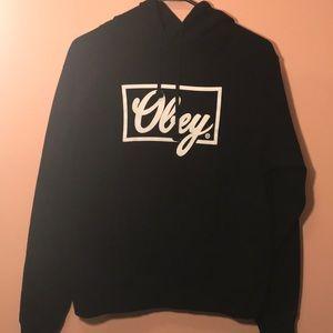 Obey Tops - Black Obey Hoodie